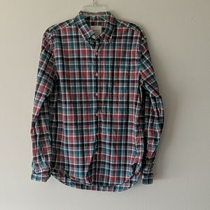 American Eagle, Red/Green casual button down